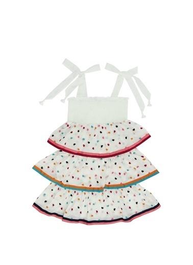 Zimmermann Zimmermann Colorblocked Kalp Nakışlı Kız Çocuk Plaj Elbise 101600374 Renkli